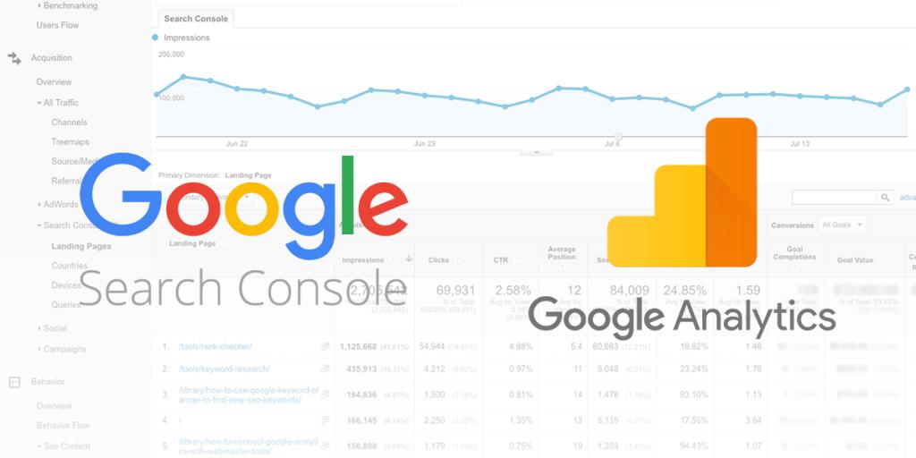 Google Search Console versus Google Analytics