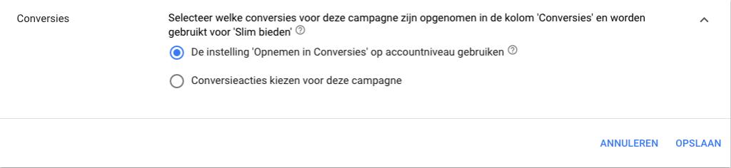 Conversieacties kiezen voor de campagne