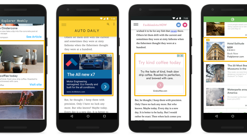 Responsieve display-advertentie op mobiel